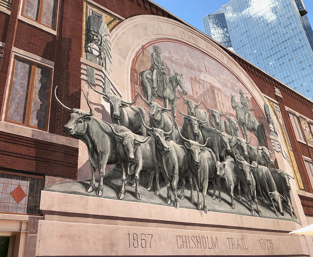 Chisholm Trail Mural at Sundance Square